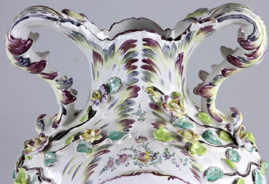 19th C. Faience Vase - 7