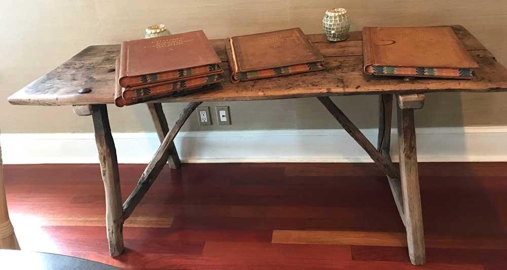 Antique English Rustic Trestle Table