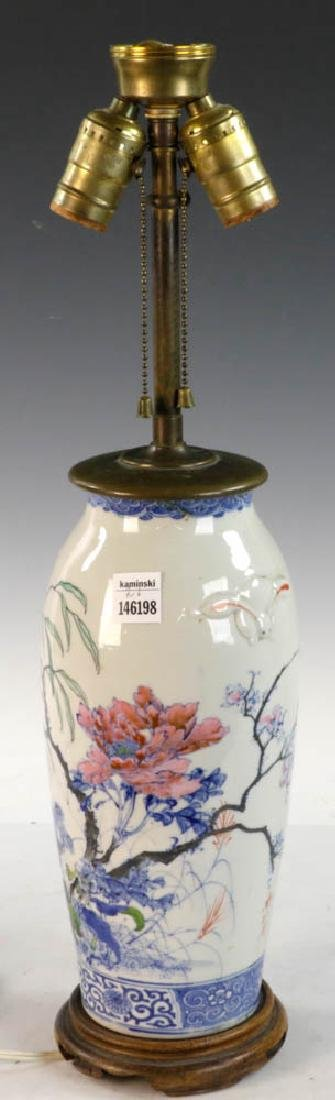 19th C. Chinese Vase Converted to Lamp