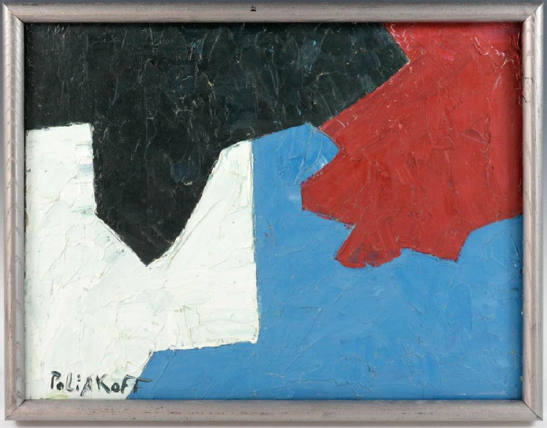 Signed Poliakoff, Abstract, Oil on Panel