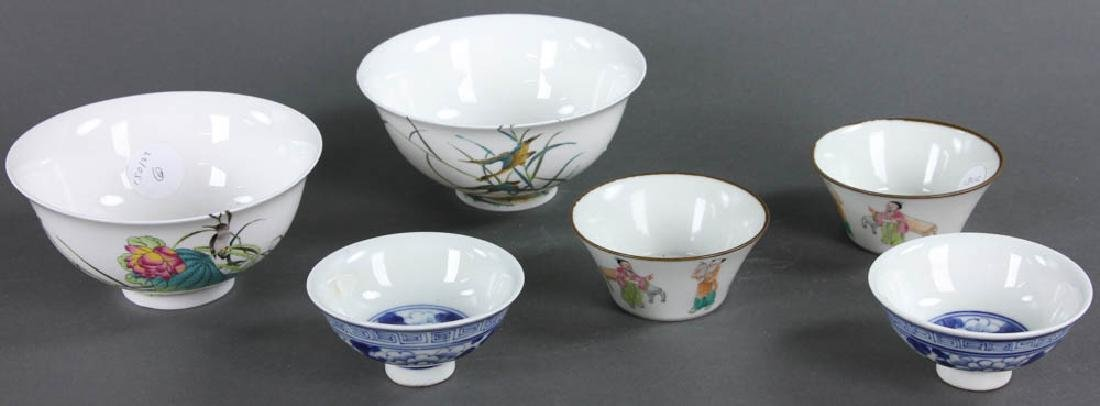 Group of Chinese Porcelain Bowls, Cups