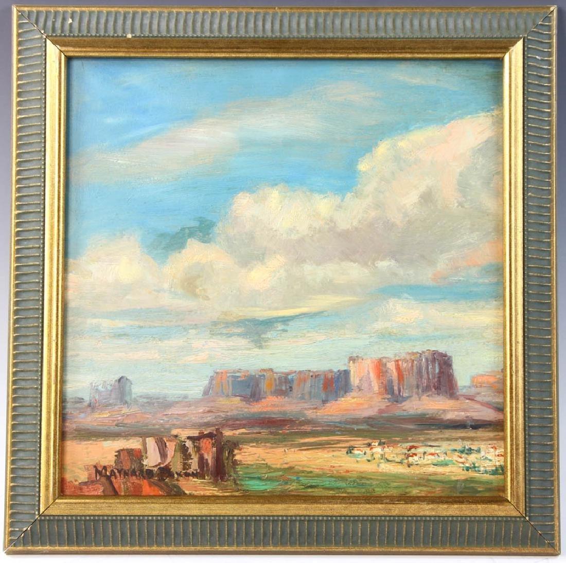 Maynard Dixon, Landscape, Oil on Board