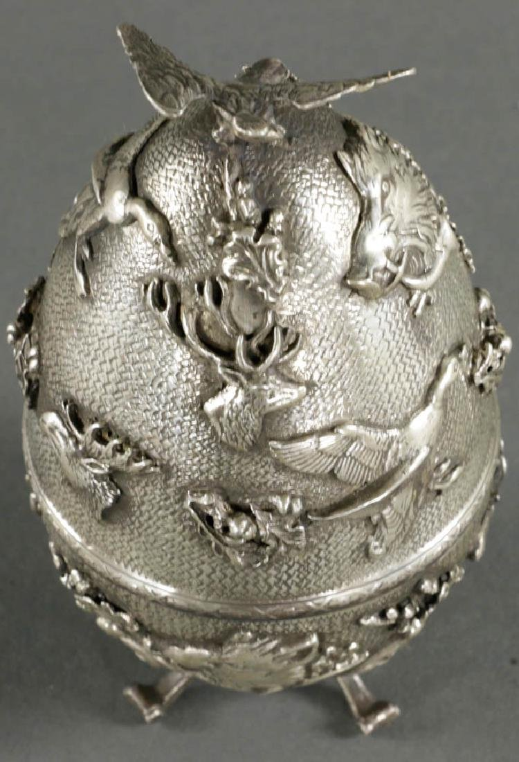 Russian Faberge-style Egg, 84 Silver Mark
