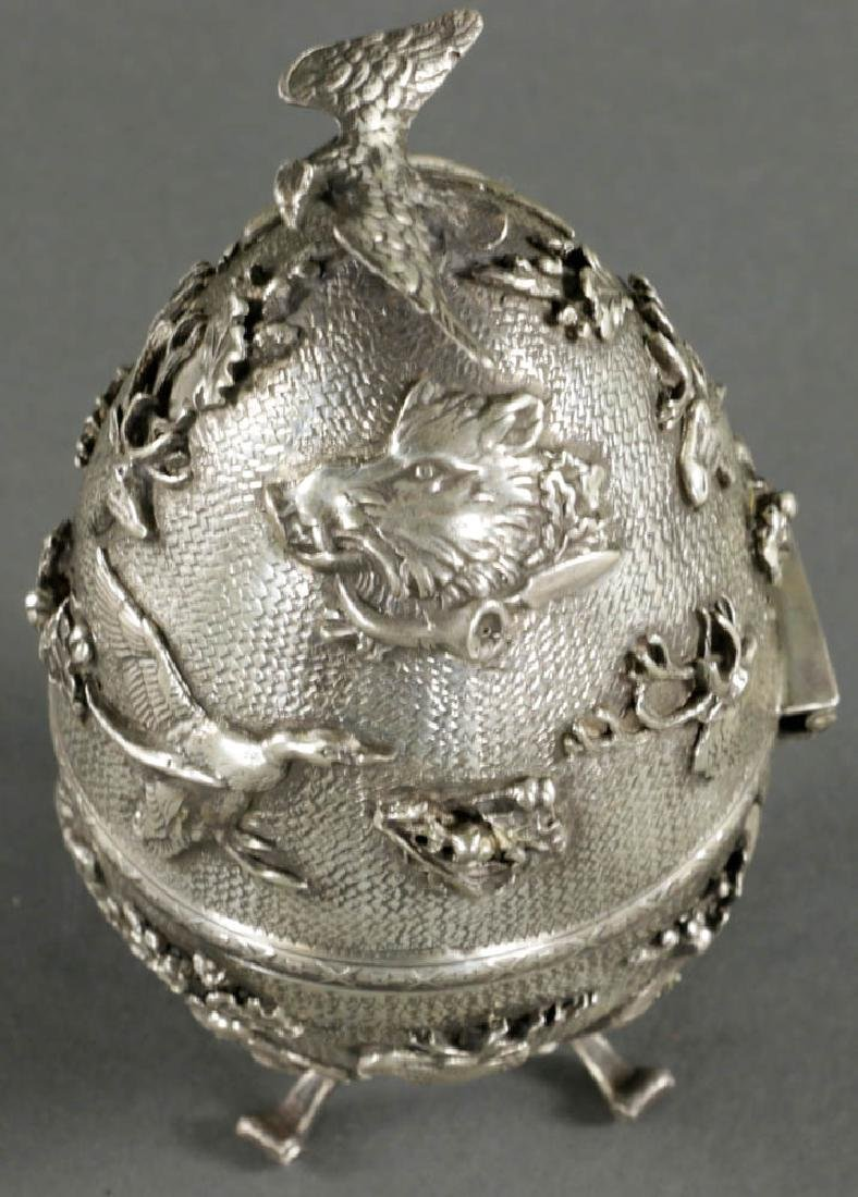 Russian Faberge-style Egg, 84 Silver Mark - 2