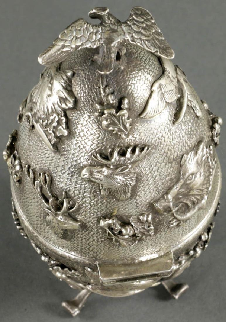 Russian Faberge-style Egg, 84 Silver Mark - 3
