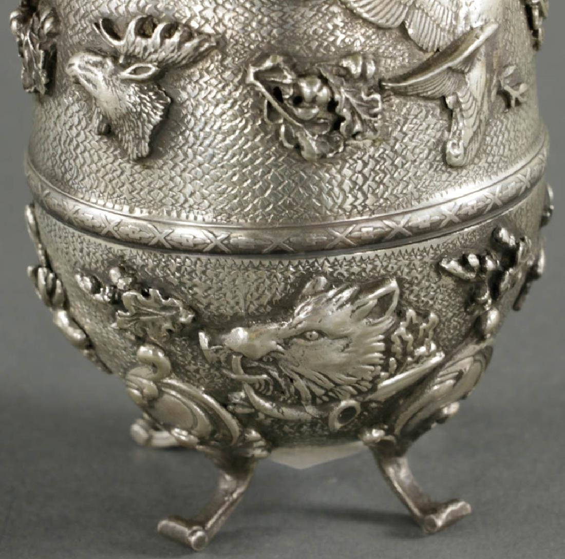 Russian Faberge-style Egg, 84 Silver Mark - 5