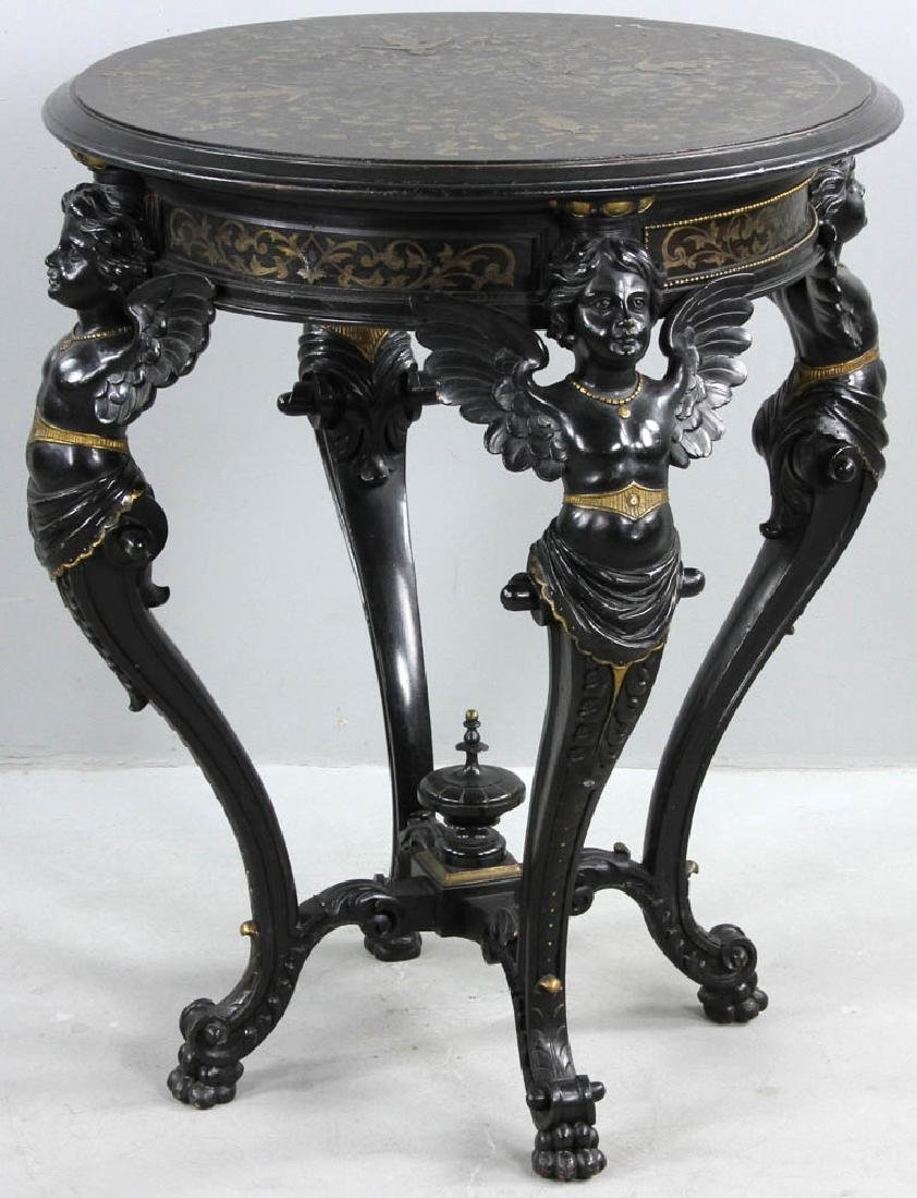 19th C. French Boulle-style Table