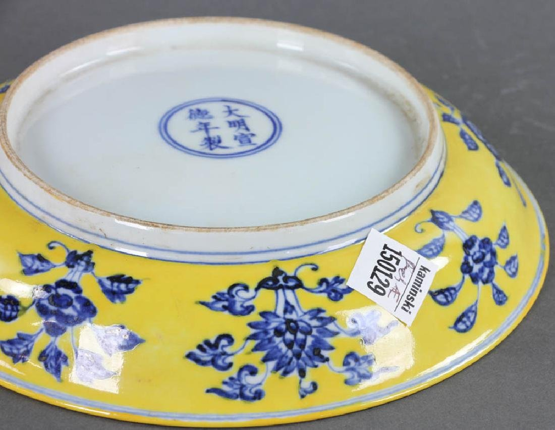 Chinese Yellow-glazed Porcelain Plate - 6