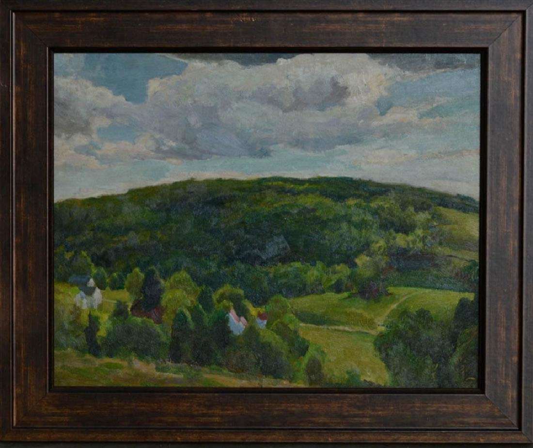 C1960s American Landscape, Oil on Masonite