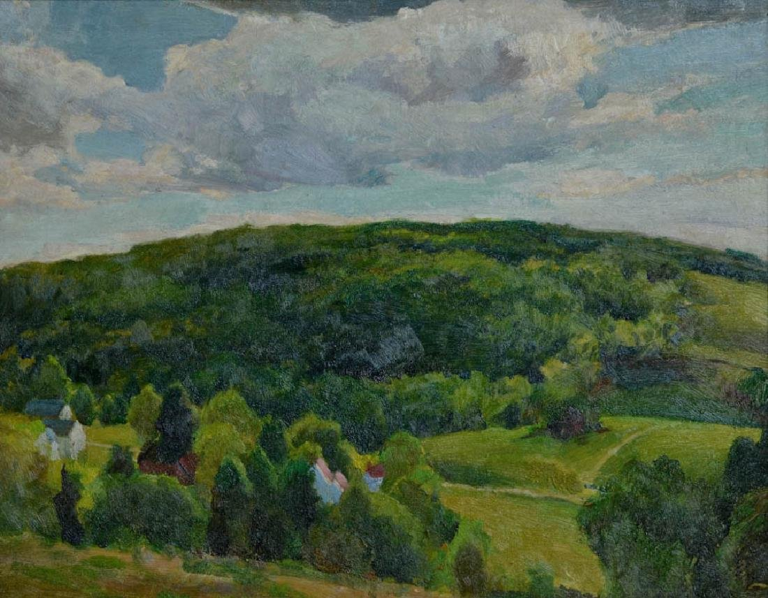 C1960s American Landscape, Oil on Masonite - 2