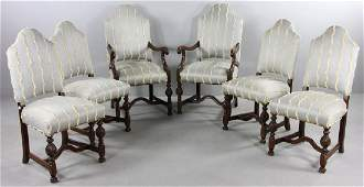 Set of Six Baroque Style Chairs
