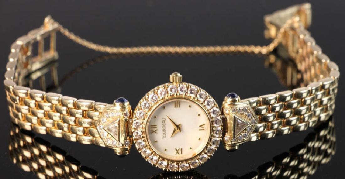 Ladies' 14k Yellow Gold and Diamond Watch