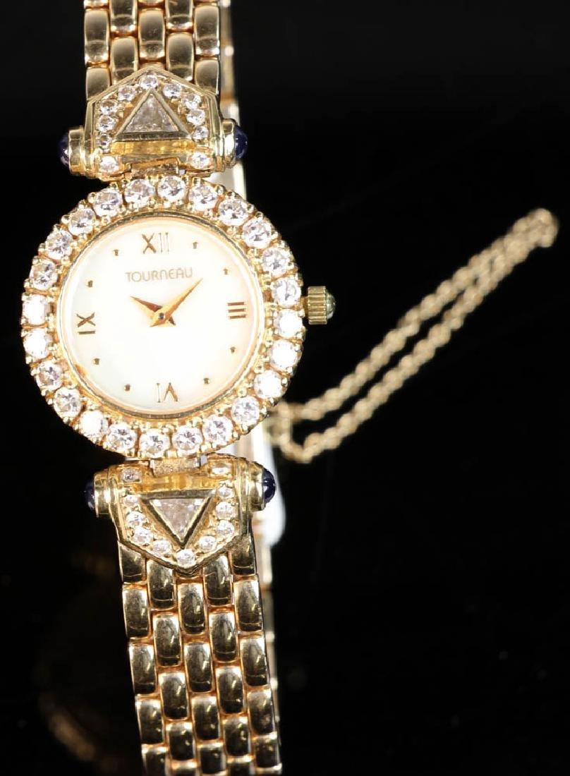 Ladies' 14k Yellow Gold and Diamond Watch - 4