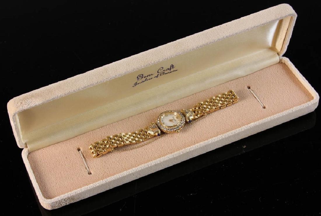 Ladies' 14k Yellow Gold and Diamond Watch - 5