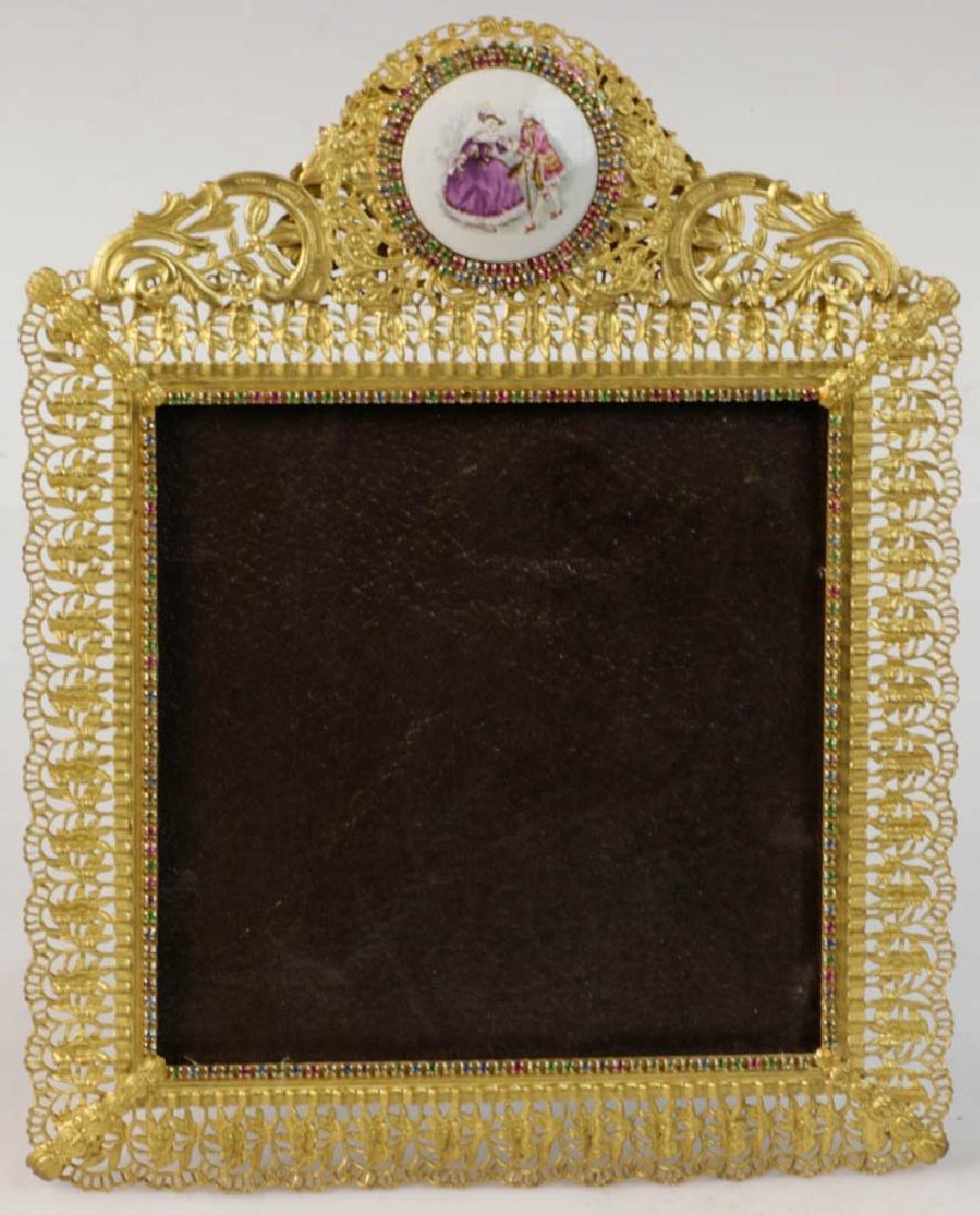 Five Vintage Brass Picture Frames - 2