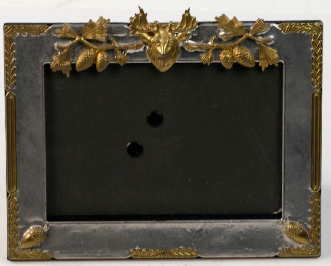 Five Vintage Brass Picture Frames - 4