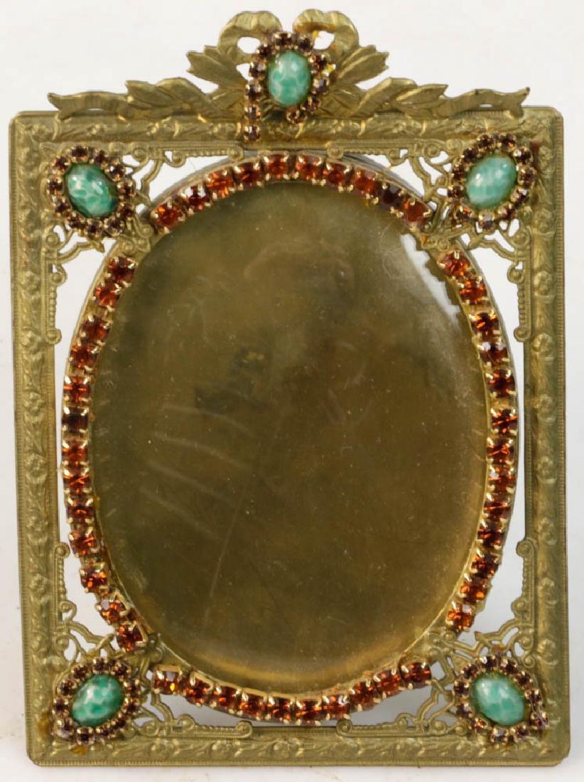 Five Vintage Brass Picture Frames - 6