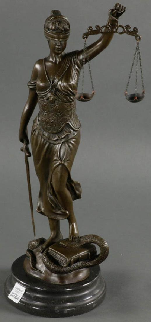 In Manner of Mayer, Lady of Justice, Bronze