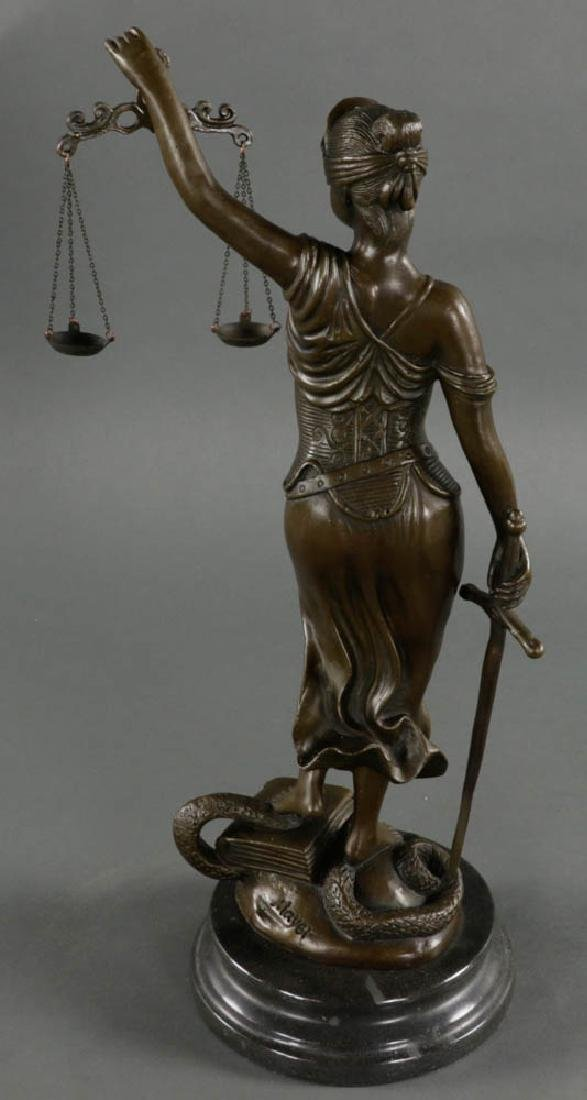 In Manner of Mayer, Lady of Justice, Bronze - 2