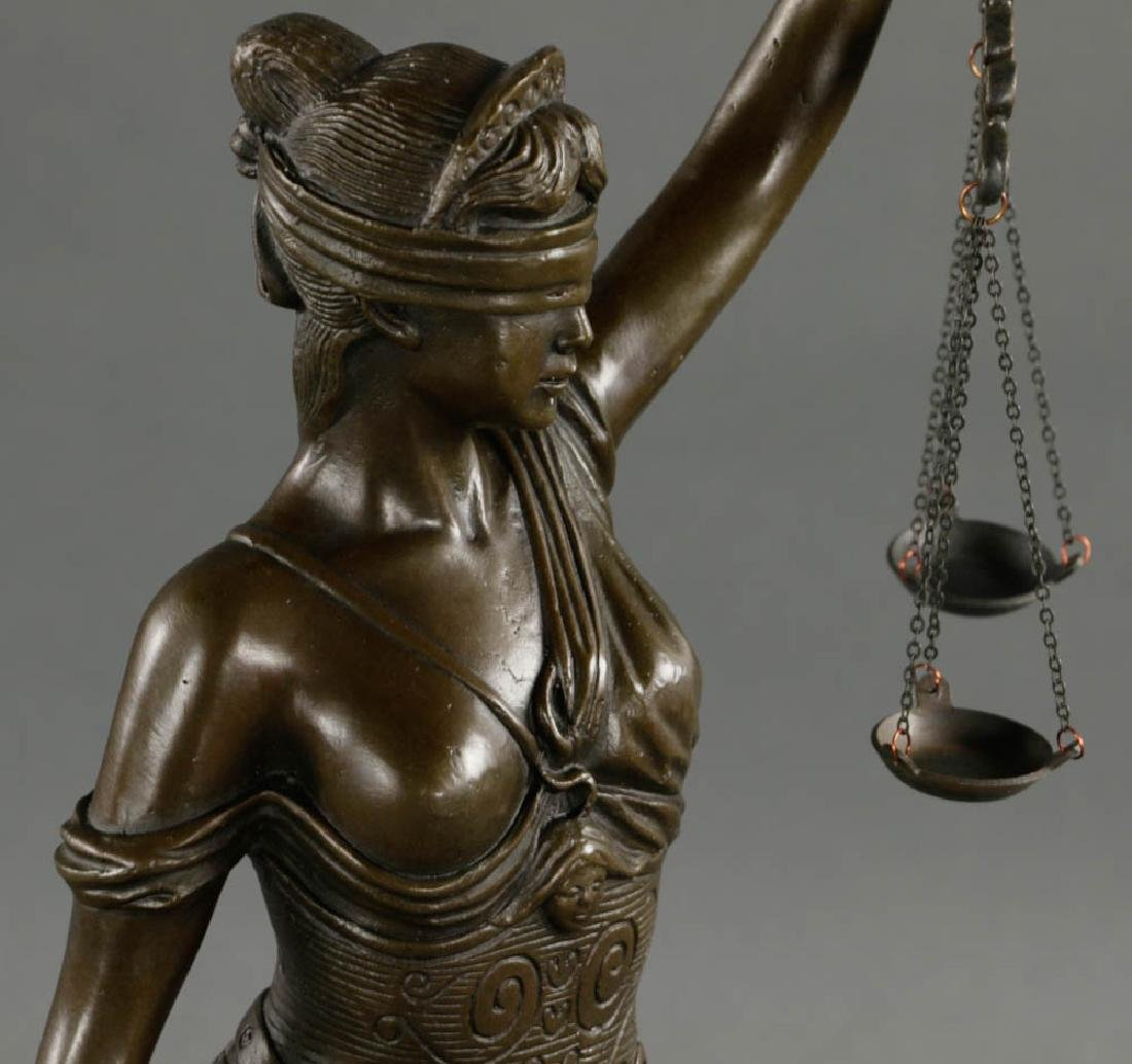 In Manner of Mayer, Lady of Justice, Bronze - 6