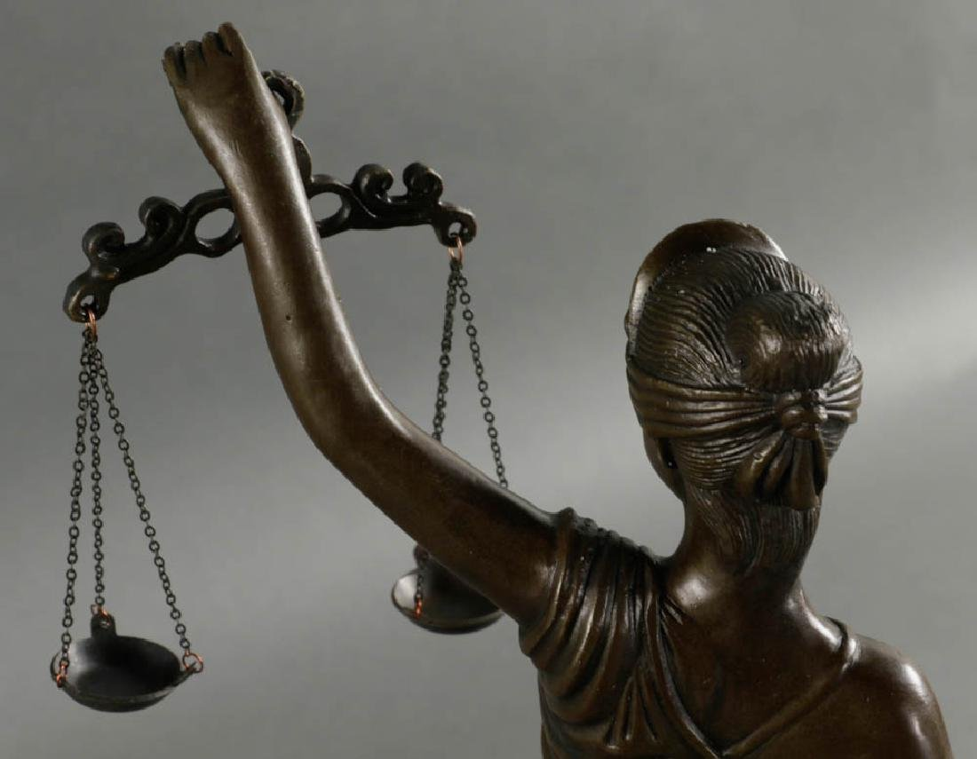 In Manner of Mayer, Lady of Justice, Bronze - 7