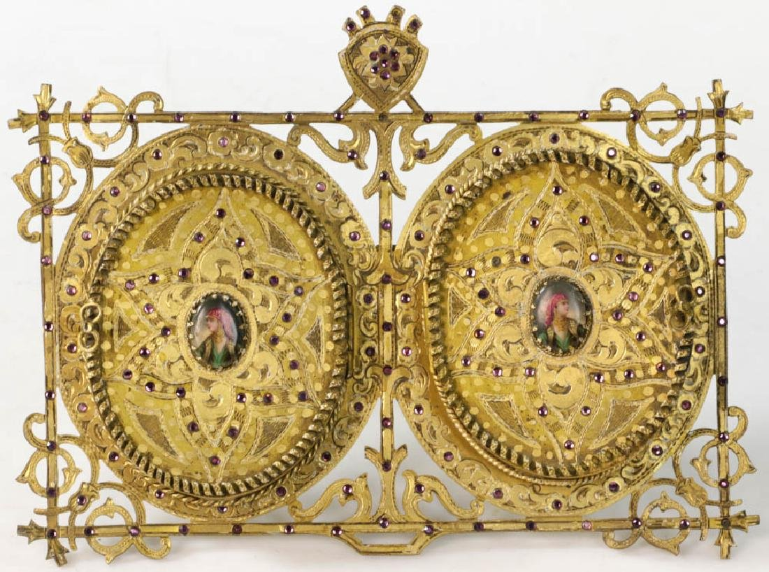 Vintage Double Locket Style Picture Frame