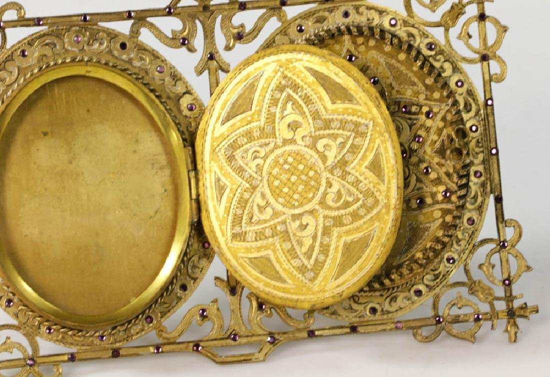 Vintage Double Locket Style Picture Frame - 5