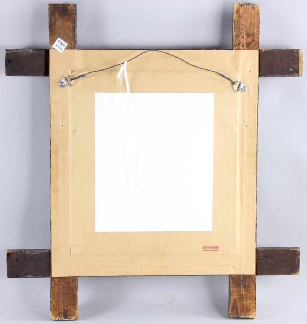 Tramp/Folk Art Mirror in  Chip Carved Frame - 6