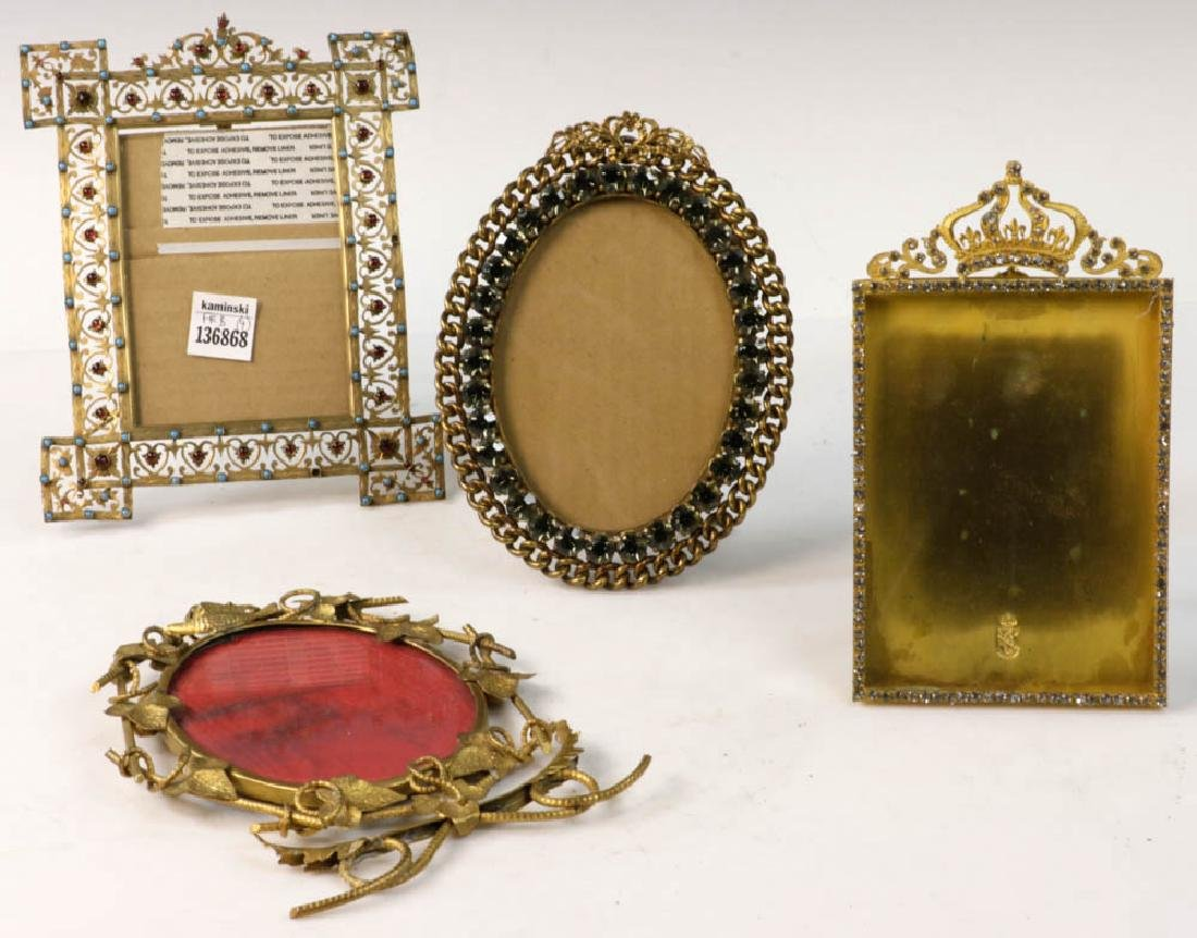 Collection of Antique Brass Picture Frames