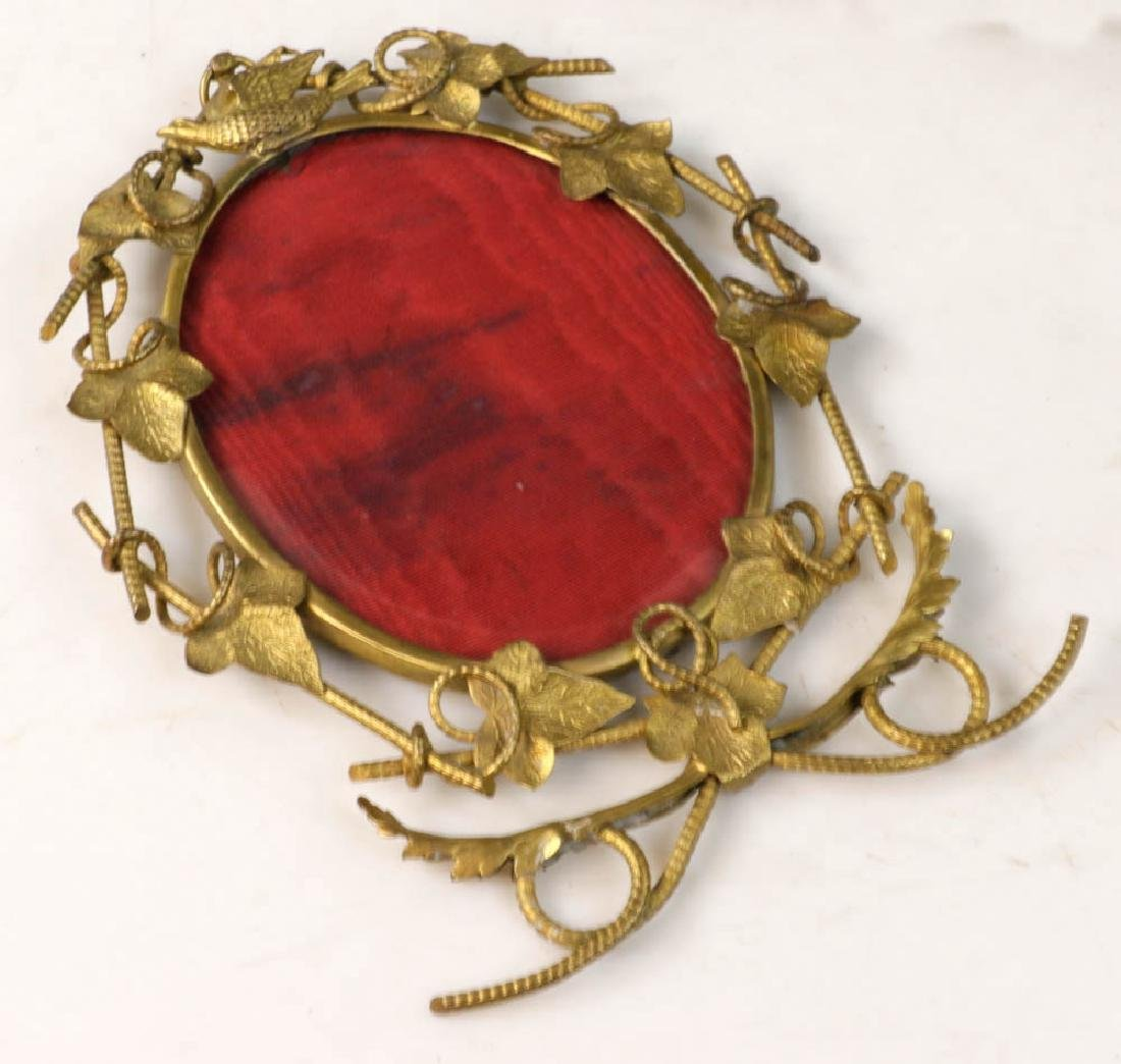Collection of Antique Brass Picture Frames - 2