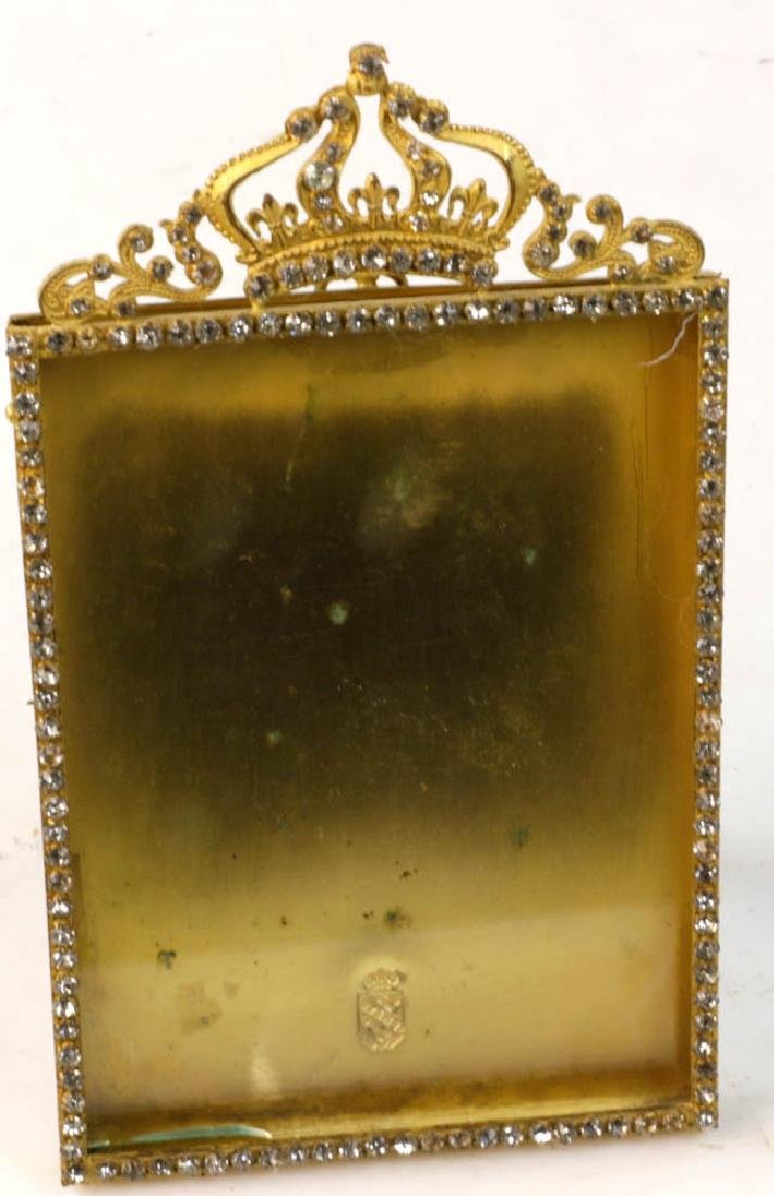 Collection of Antique Brass Picture Frames - 4