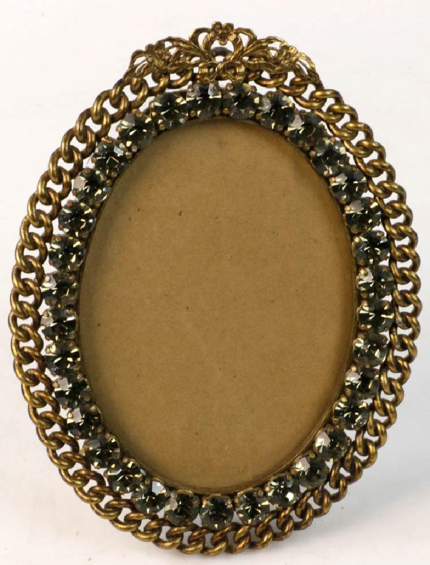 Collection of Antique Brass Picture Frames - 5