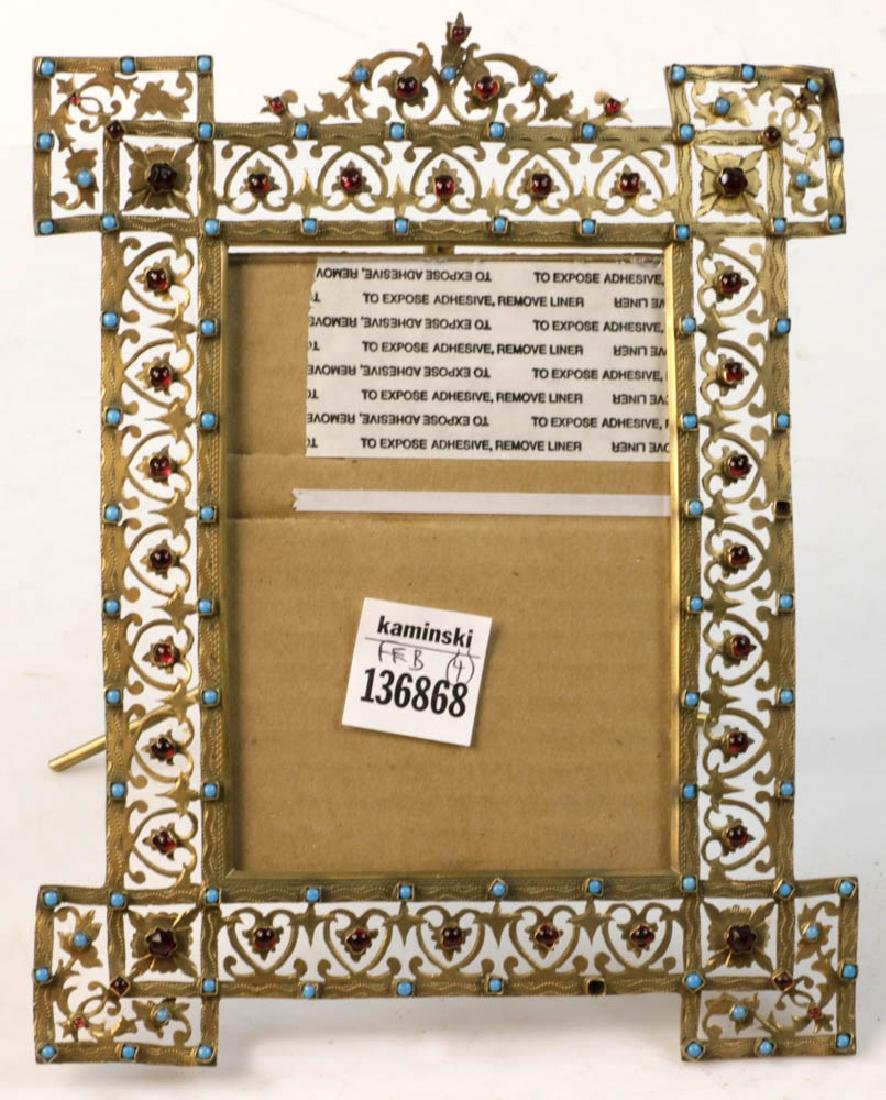 Collection of Antique Brass Picture Frames - 6