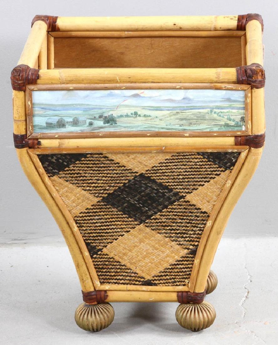 MacKenzie-Childs Designer Waste Basket - 3
