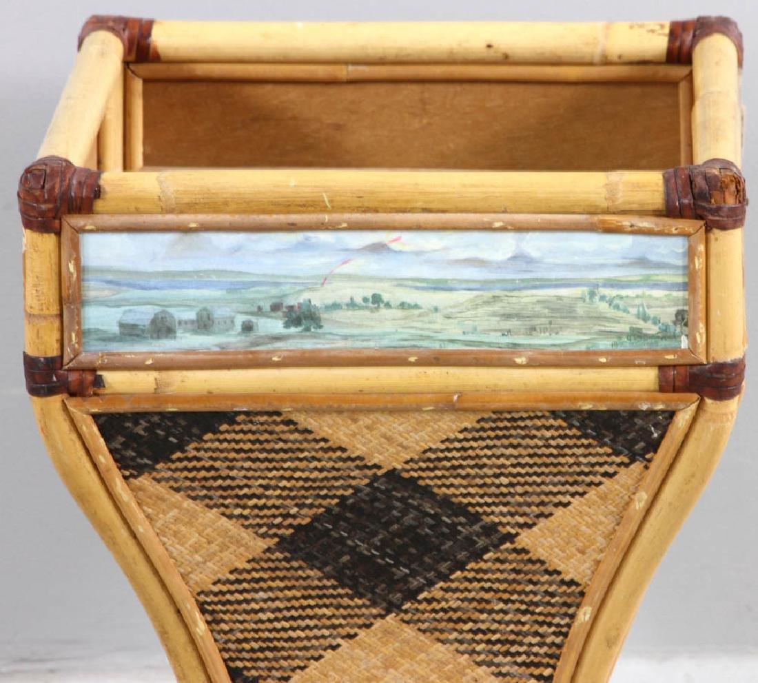 MacKenzie-Childs Designer Waste Basket - 4