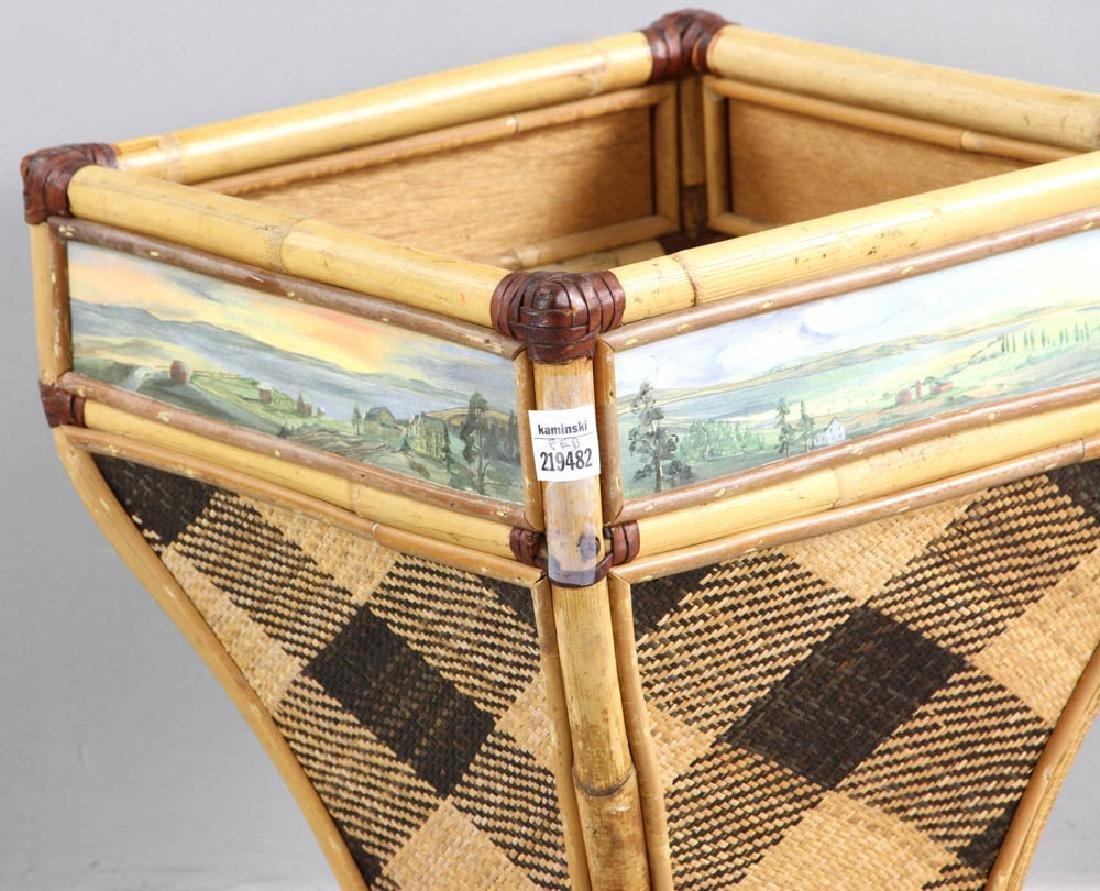 MacKenzie-Childs Designer Waste Basket - 6