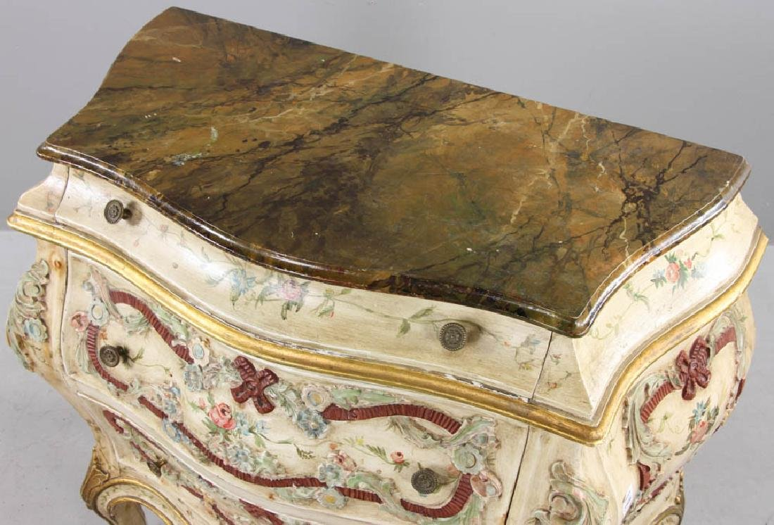 Paint Decorated Bombe Chest - 10