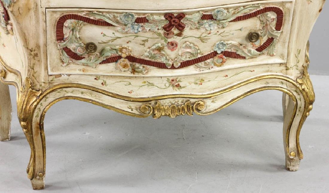 Paint Decorated Bombe Chest - 2
