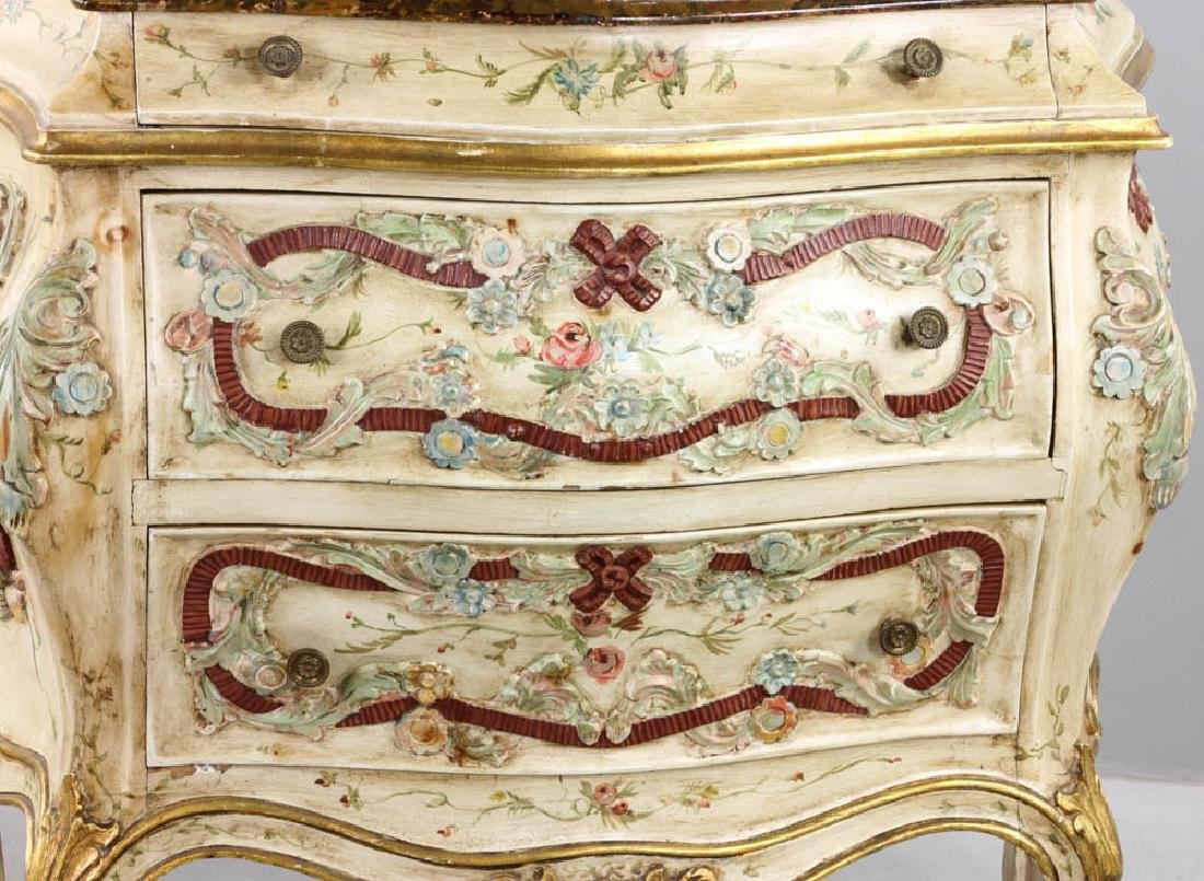 Paint Decorated Bombe Chest - 3