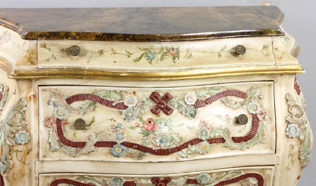 Paint Decorated Bombe Chest - 4