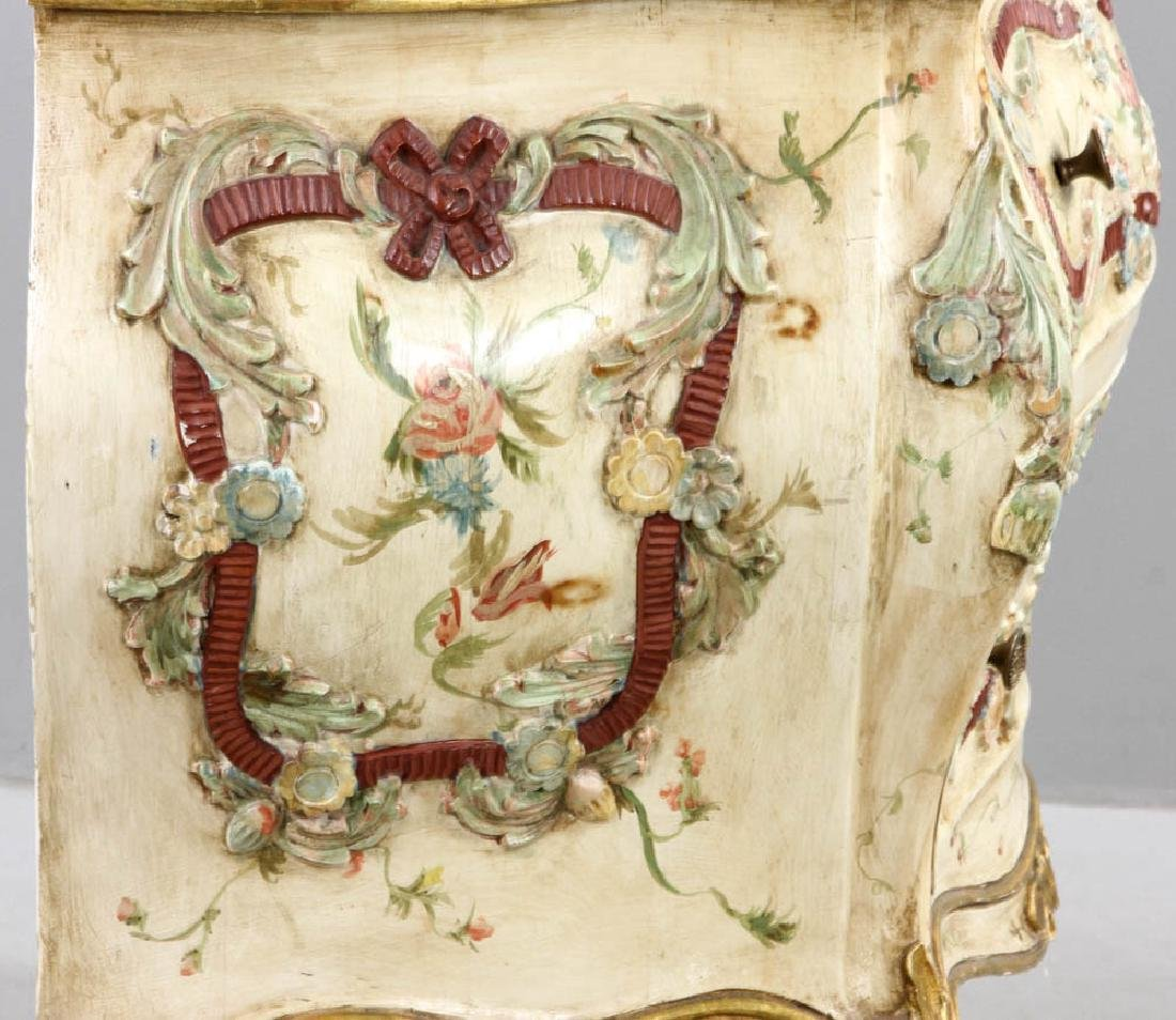 Paint Decorated Bombe Chest - 7