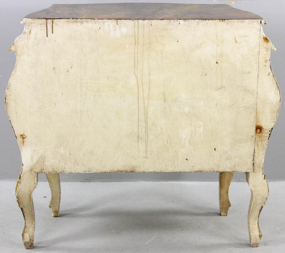Paint Decorated Bombe Chest - 8