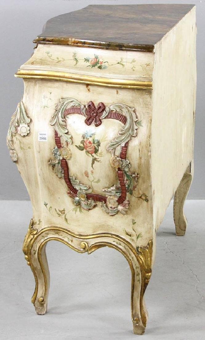 Paint Decorated Bombe Chest - 9