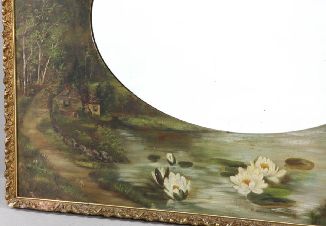 Large Beveled Glass Mirror in Painted Frame - 3