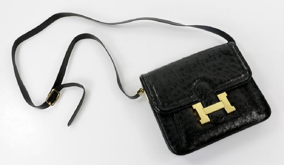 Hermes Style Ostrich Handbag