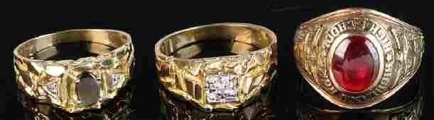 Three Ladies' 10k Gold Rings