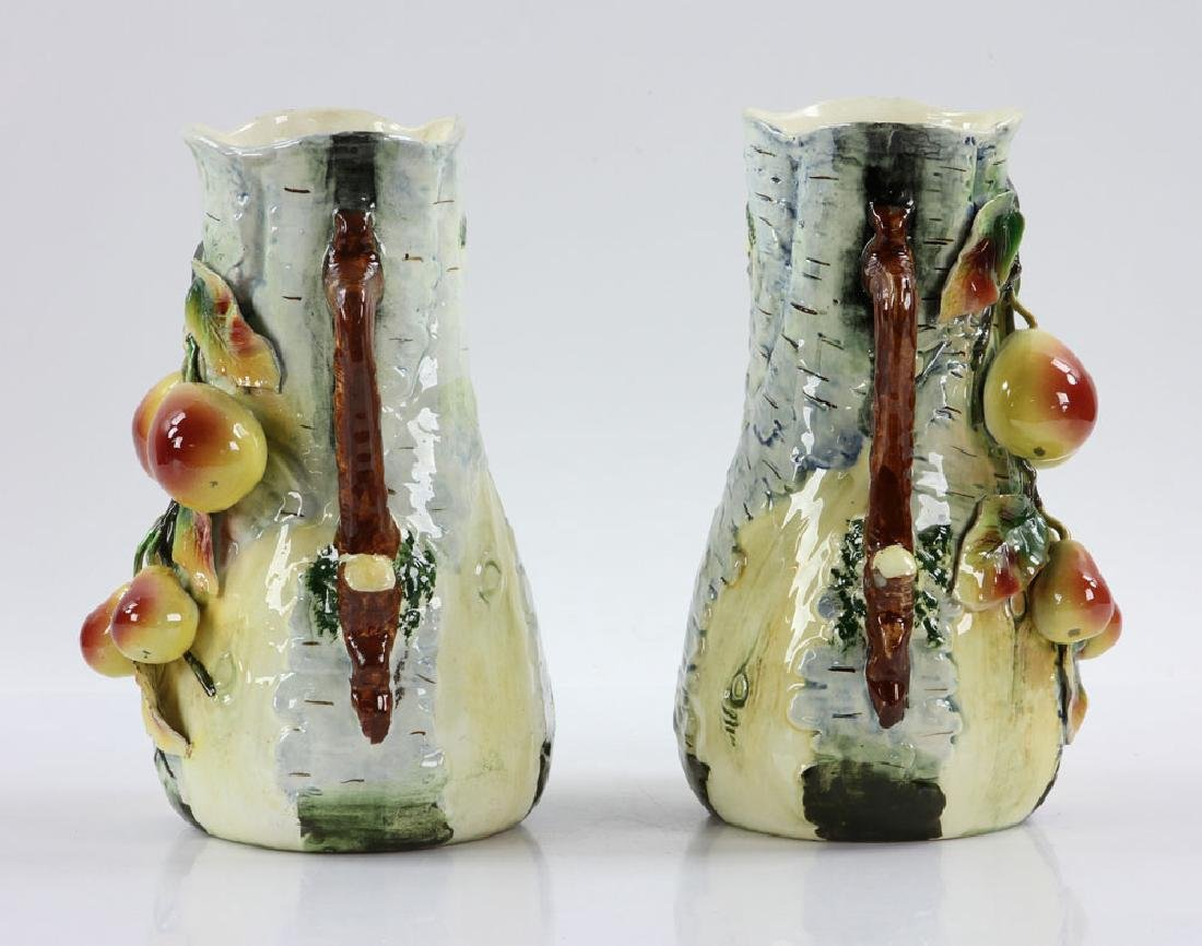 Pair of Majolica Vases - 2