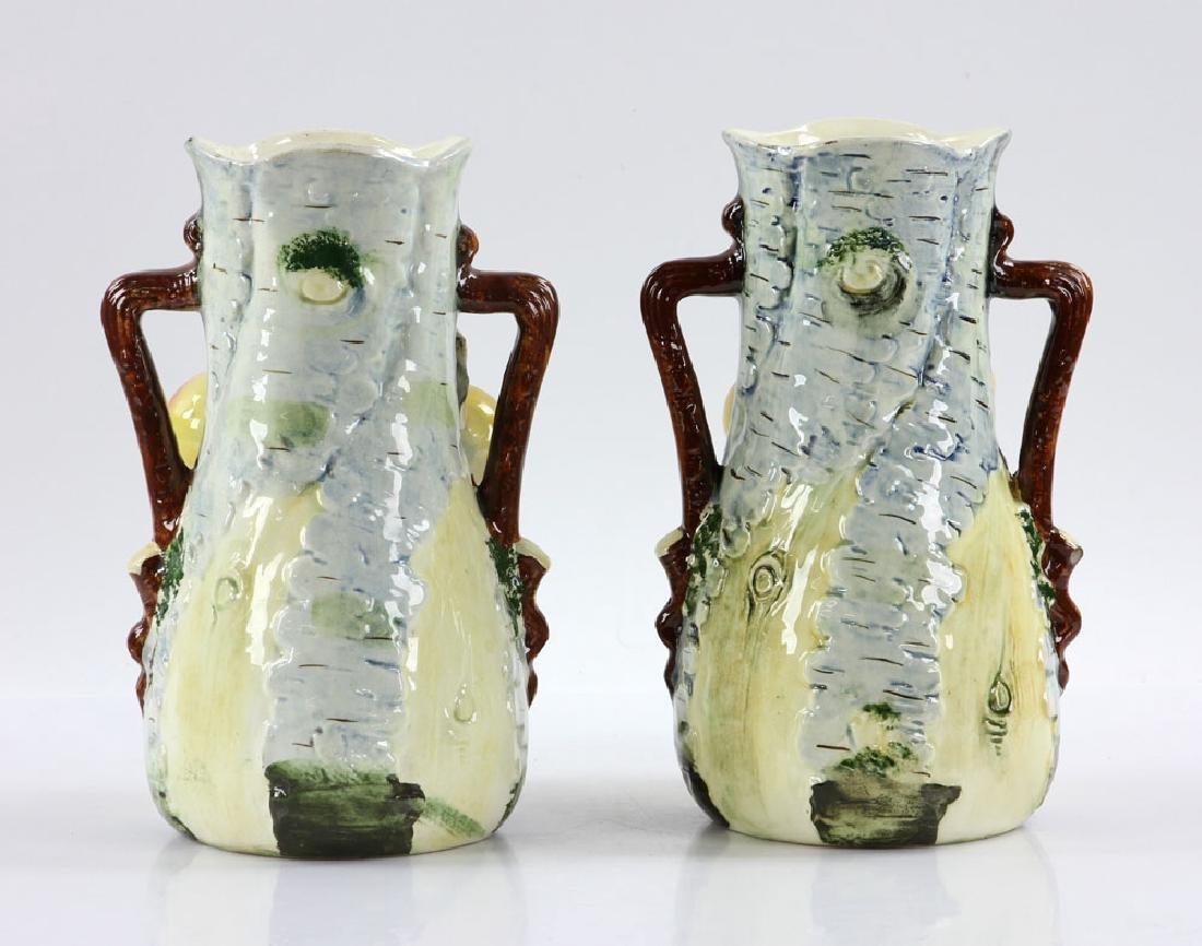 Pair of Majolica Vases - 3