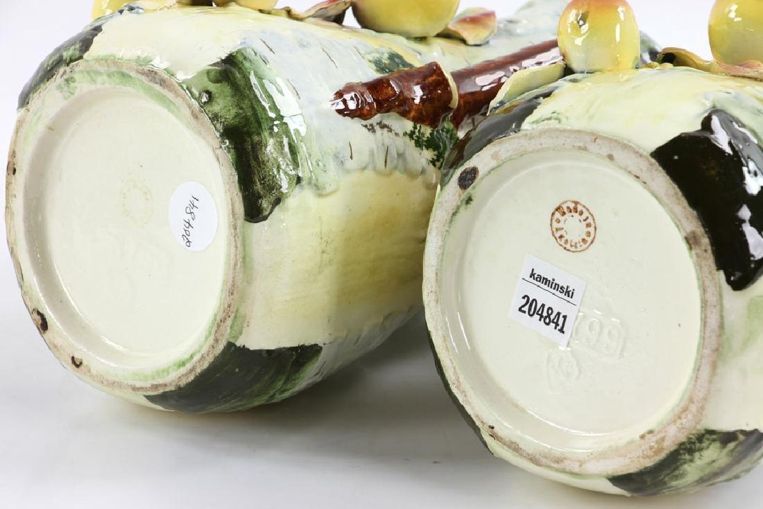Pair of Majolica Vases - 5