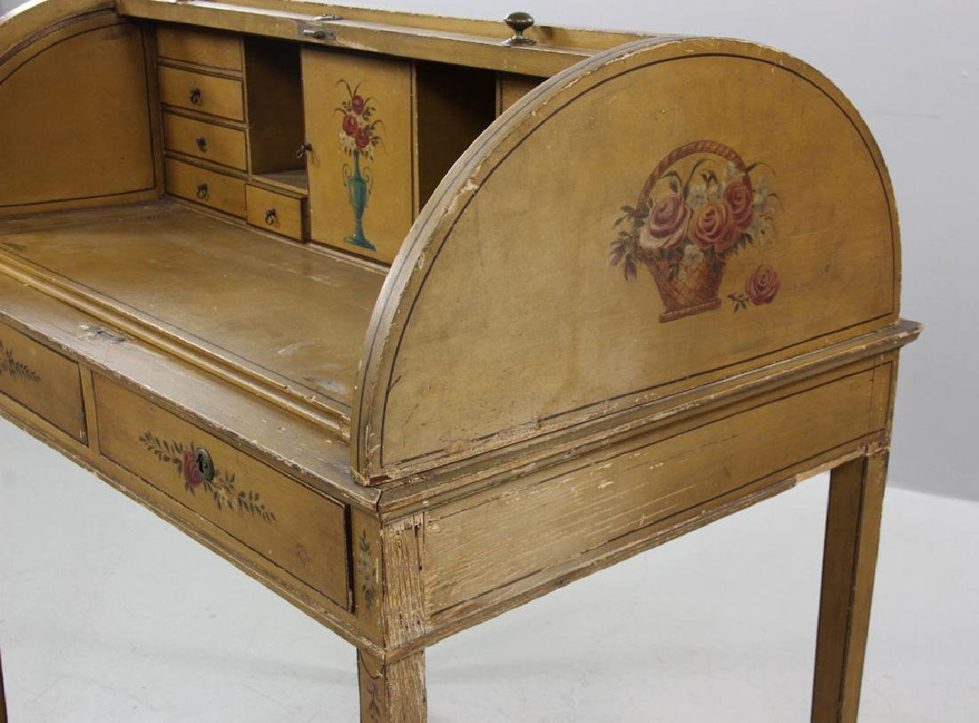 French Style Painted Desk - 8